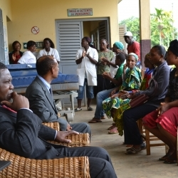 SBH is welcomed with gospel songs in Melong