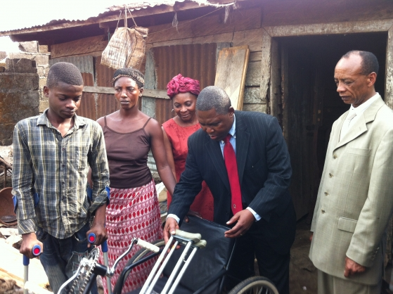 SBH official donation to the disabled student
